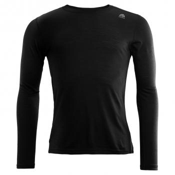 aclima lightwool crew neck herre - jet black