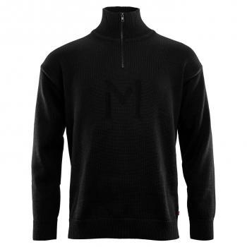 aclima lars monsen anárjohka wool pullover unisex - jet black