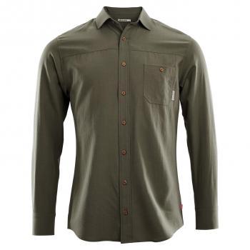 aclima leisurewool woven wool shirt herre - ranger green