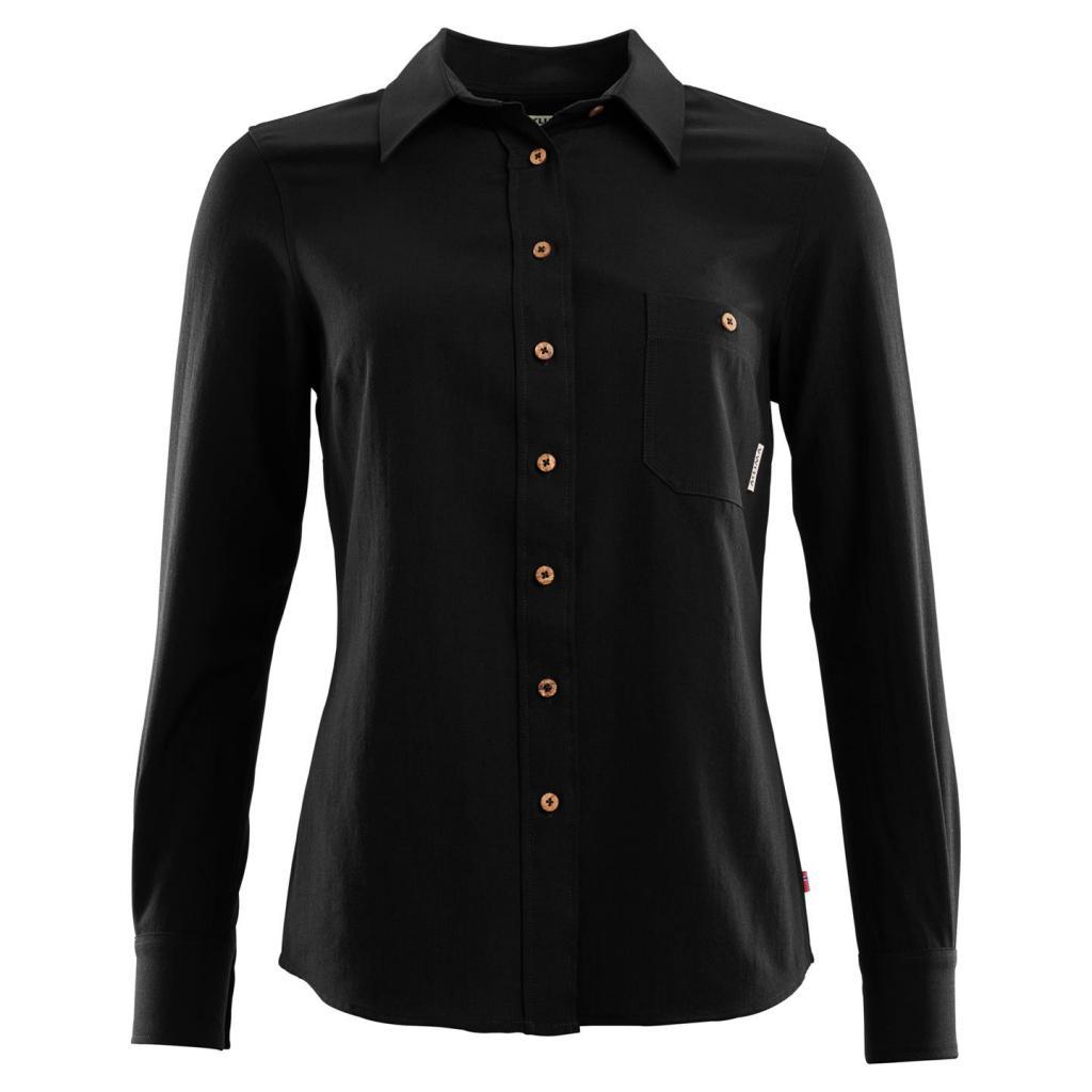 aclima leisurewool woven wool shirt dame - jet black