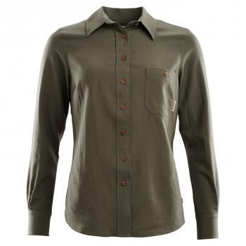 aclima leisurewool woven wool shirt dame - ranger green