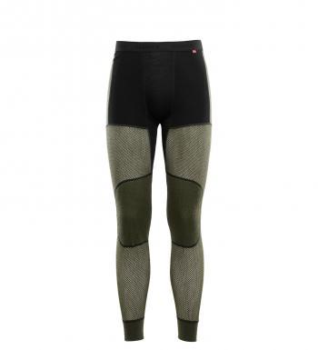 aclima woolnet hybrid longs herre - jet black/olive night/dill