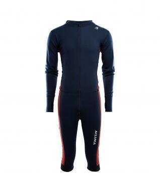 aclima warmwool overall ¾ herre - navy blazer/red ochre