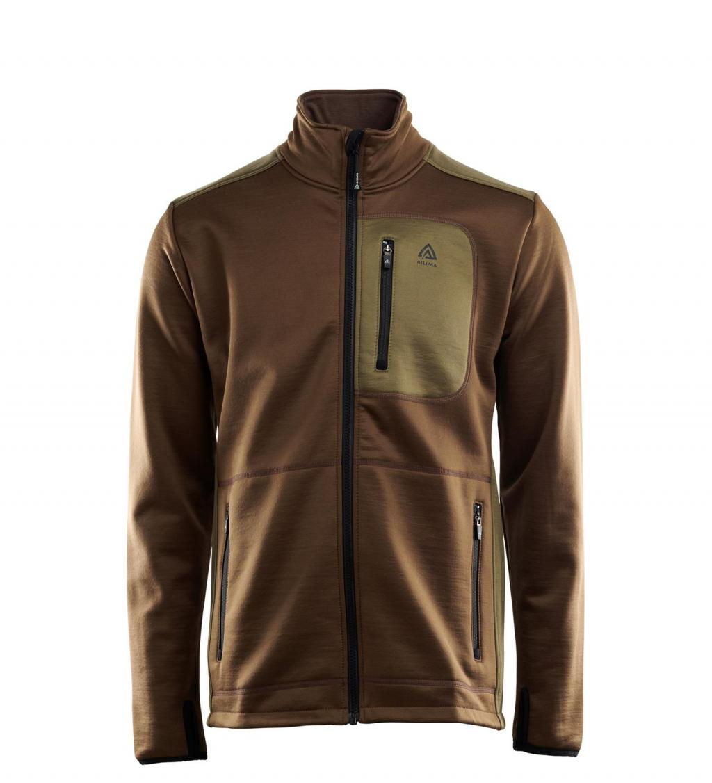 aclima woolshell jacket herre - capers/dark earth