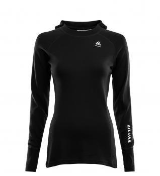 aclima warmwool hoodsweater dame - jet black