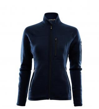 aclima fleecewool jacket dame - navy blazer